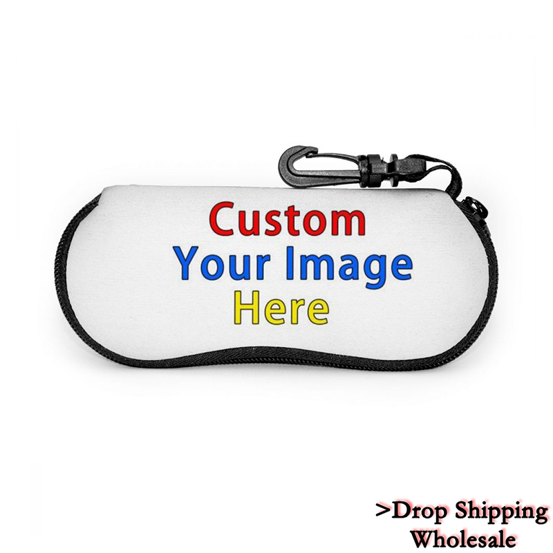 3D Custom Your Image Women Sunglasses Protector Men Travel Pack Pouch Glasses Case Zipper Box Hard Eyewear Travel Accessories