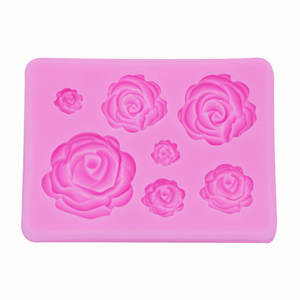 Soap Chocolate Mold Fondant-Baking-Mold Cake-Decoration Rose-Flower Handmade Small Diy Silicone