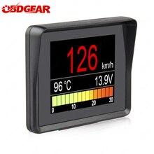 Automobile a bordo Computer A203 Car Digital OBD 2 Display del Computer tachimetro misuratore di consumo carburante indicatore di temperatura OBD2