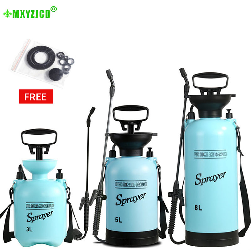 3/5/8L Air Pressure Sprayer Long Spray Bar Wide Range Spray Tool Garden Watering Irrigation Lawn Plastic Watering Can