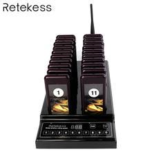 نظام استدعاء النادل RETEKESS T112 جهاز بيجر للمطاعم 433.92 ميجاهرتز لاسلكي نظام طنان بيبر لإدارة طابور القهوة الكنيسة