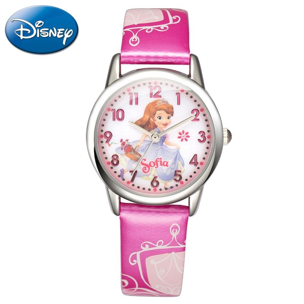 Disney Princess Series Girls Fashion Casual Cuties Quartz Waterproof Watches Kids Lovely Gift Beautiful Baby Watch Children Time