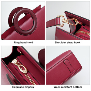 Image 4 - FOXER Lady Elegant Hand Bags Cowhide Women Stylish Shoulder Bag Leather Tote Female Luxury Messenger Bag Fashion Brand Bag Purse