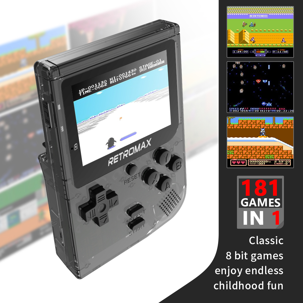 Video Game Console 8 Bit Retro Mini Pocket Handheld Game Player Built-in 181 Classic Games Best Gift For Child Nostalgic Player