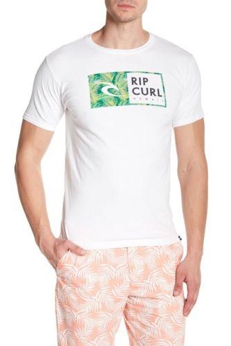 Rip Tee Curl Men'S M Tee T-Shirt Short Sleeve White Hawaii Hi Finley Watu Nwt Unisex Size S-3XL