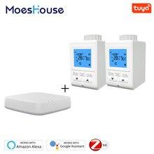 Zigbee Smart Thermostatventil Controller TRV Thermostat Tuya Temperatur 2MQTT Setup Arbeitet mit Alexa Google Hause