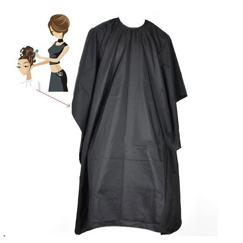 1PC Hair Cutting Cape Pro Salon Hairdressing Hairdresser Cloth Gown Barber Black Waterproof