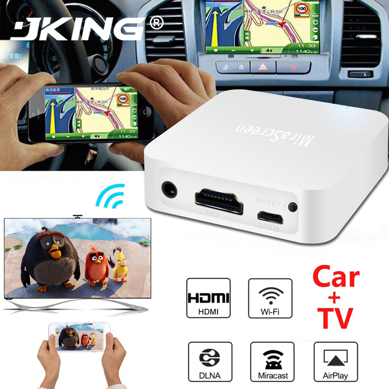 JKING MiraScreen TV-Stick HDMI auto anycast Miracast DLNA Airplay WiFi Anzeigen Receiver Dongle Unterstützung Windows Andriod TVSX7