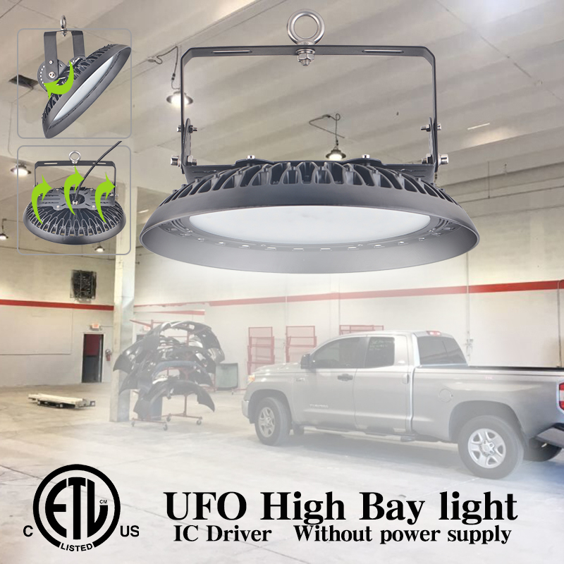 UFO Led High Bay Light High Brightness  Lighting Industrial IP65 Protection Warehouse Workshop Garage Market Airport Lamp Lights