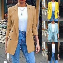 Fashion Women Coat Slim Blazer Turn Down Collar Jacket Formal OL Suit Outwear