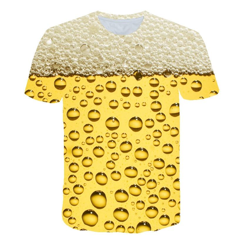 2020 d'été cool 3D bébé Star wars Bière garçons T-shirt enfants mode L'eau Modèle Top T-Shirts T-shirt Drôle filles vêtements Streetwear