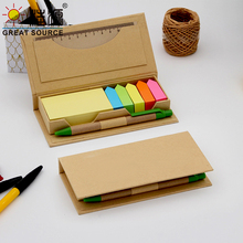 Compose Memo Pad Set Orgainzer Box Ballpoint Ruler Notepad Stickers Color Bookmarks Gift Set (20sets)