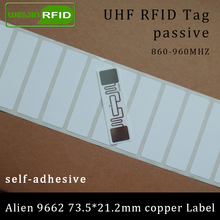 Label Rfid-Tag Alien UHF 860-960MHZ Higgs3 9662 Adhesive EPC Copper-Paper 6C Printable