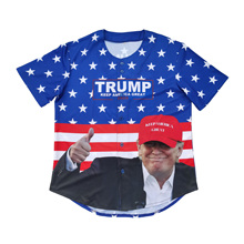 Donald John Trump 2020 new printed embroidered baseball jersey