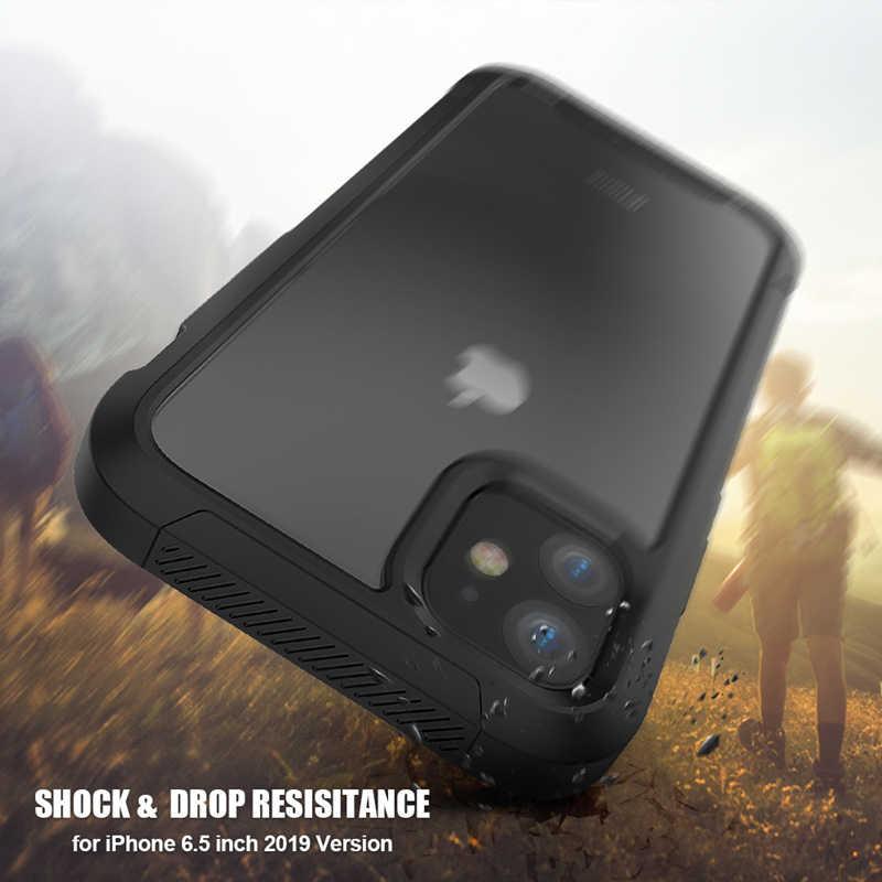 ใหม่สำหรับ iPhone 11 โปร่งใสกันกระแทกสำหรับ iPhone 11 PRO MAX XS MAX XR XS 8 7 PLUS เกราะ PC TPU กรณี