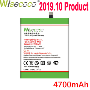 WISECOCO 4700mAh BM3L Battery For Xiaomi 9 MI 9 Mobile Phone In Stock Latest Production High Quality Battery+Tracking Number(China)
