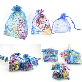 10 sztuk małe torby z organzy Favor Organza ślubna torby na prezenty świąteczne torby i torebki do pakowania tanie i dobre opinie ZTBBAO Jedwabiu Organza Bags