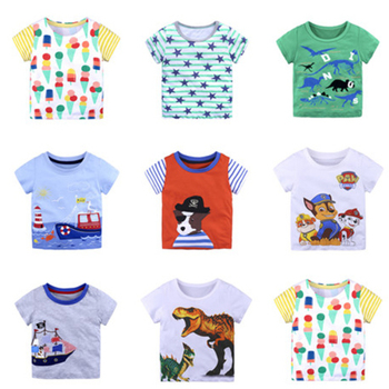 Fashion Kids Boys T Shirts Summer Short Sleeve T Shirt Cartoon Girls Tops T Shirt O-neck Cotton Toddler T Shirts 18 M- 6 T цена 2017