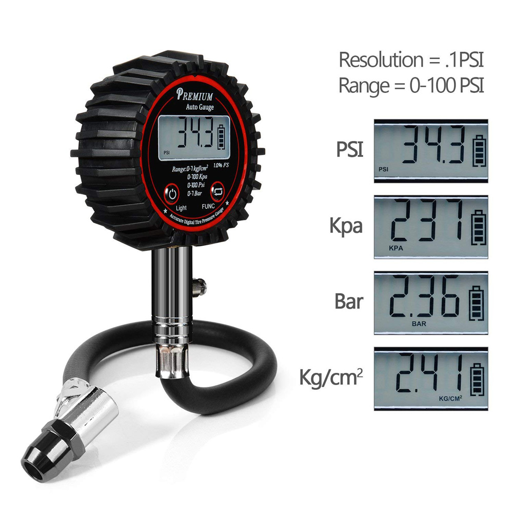 100PSI LCD Digital Automotive Tire Air Pressure Gauge Meter Car Motorcycle Truck Tyre Barometers Manometer Air Pressure Tester
