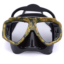 Professional Disguise Camouflage Scuba Dive Mask Snorkeling Lens PC Frame Gear Safe Swimming Spearfishing Goggles
