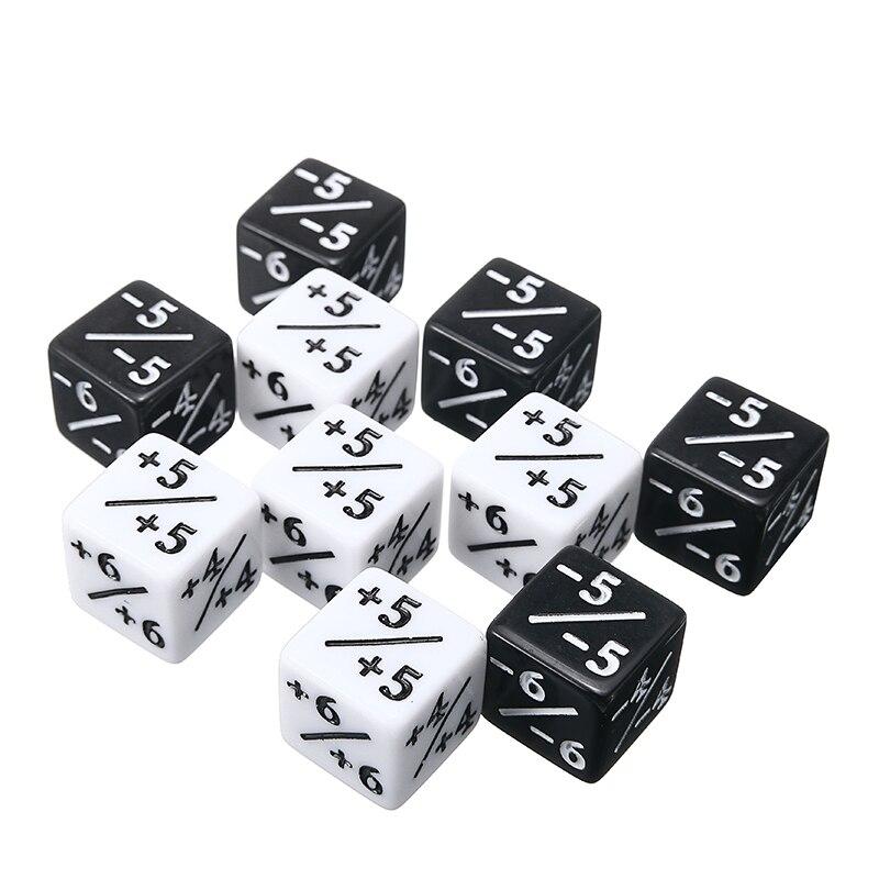 10 шт./компл. черно-белые кубики для магических игр, интересные игровые игры на открытом воздухе, вечерние кубики