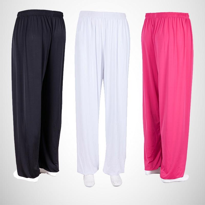 Tai Chi Kung Fu Pants Ice Silk Dance Yoga Pants Wing Chun Martial arts Wushu Training Trousers For Woman Men Gym Fitness Running