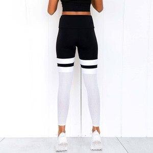 Image 2 - Rooftrellen 8% elastano gótico malha inserção leggings gradiente leggings mulheres leggings de fitness calças casuais novo retalhos legging