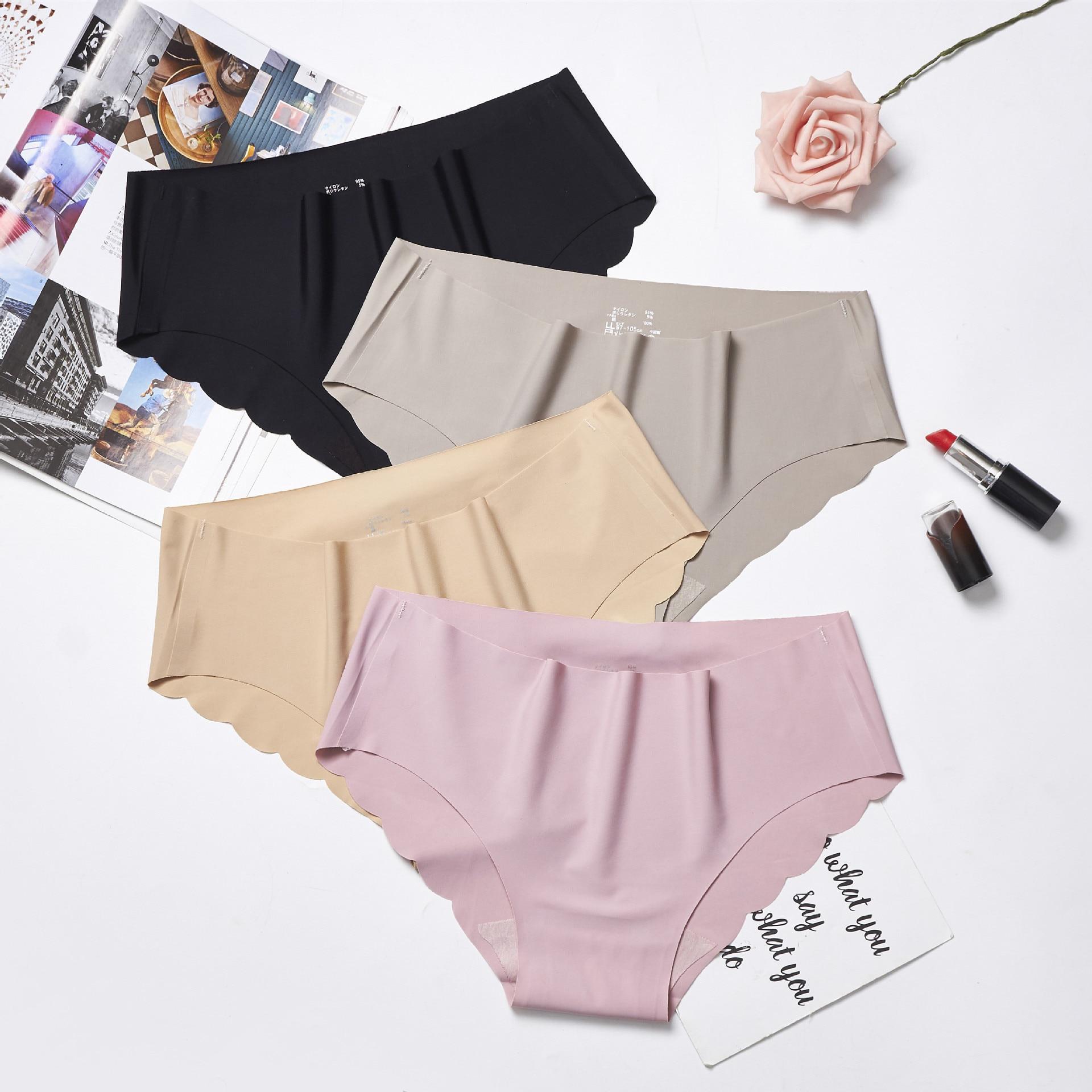 Hot Silk Sexy Women Thongs G String Seamless Panties Female Underwear Tanga Panties Low-Rise Lingerie Panty Intimates 1pcs Ac115