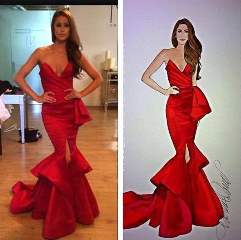Red Carpet Evening Dresses 2021 Sexy Sweetheart Backless Split Vintage Full Length Mermaid Formal Prom Party Gowns Robe De Sorie