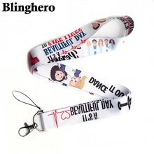 Wholesale 20pcs/lot Greys Anatomy Keychain Cartoon Grays Phone Lanyard Women Strap Neck Lanyards for ID Card Keys Doctors Gifts