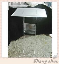 Akrylowy Pulpit Podium Rostrum ambona pleksi tanie ambona akrylowy Dais przezroczysty akrylowy stojak na Podium kościelne w Zestawy szkolne od Meble na
