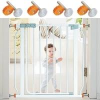 4 pces pressão bebê portão parafuso rosqueado eixo hastes caminhada através de portões acessório-m10 x 10mm