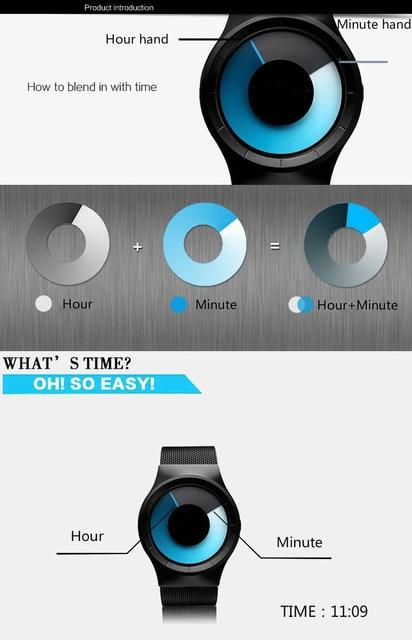 Creative Quartz Watches Men Top FASHION Brand Casual Stainless steel Mesh Band Unisex Watch Clock Male female Gentleman gift 6