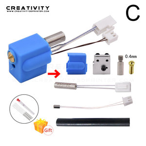 Image 4 - 3D Printer Extruder Sidewinder X1/Genius Silicone Nozzle Kit Throat Handle Thermistor Heating Pipe Heated Block for Artillery