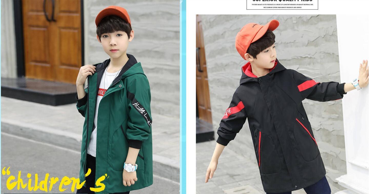 Куртка для мальчиков-подростков; осенне-зимняя куртка для мальчиков; детская куртка; детская теплая верхняя одежда с капюшоном; пальто для мальчиков; одежда