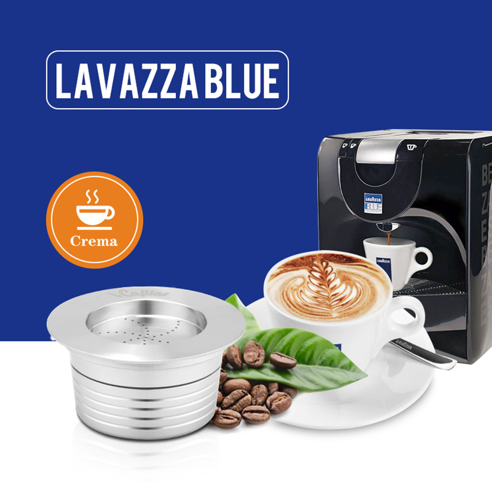 Reusable Lavazza Blue Coffee Filters For Lavazza LB951 & CB-100 Machine Stainless Steel Refillable Coffee Capsule Pod & Tamper