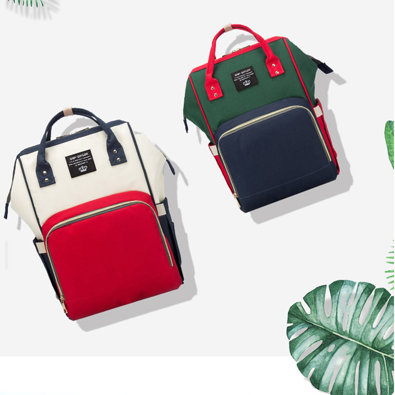 Baby Bag Large Capacity Diaper Bag Backpack Multifunction Waterproof Baby And Mom Travel Backpack Personality Fashion Mommy Bags