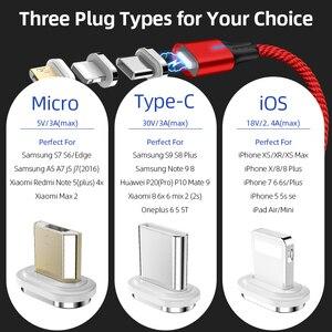 Image 5 - SUNPHG Handy 3A Magnetische Kabel Ladegerät 2m Micro USB Schnelle Lade Typ C Daten Kabel für iPhone Blitz xs xr Samsung S9