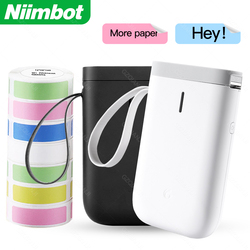 Colors D11 NIIMBOT Portable Mini Label Printer Wireless Bluetooth Label Printer Price Tag for mobile phone iOS Android Free App