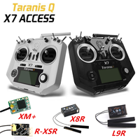 FrSky ACCST Taranis Q X7 2.4G 16CH Left Throttle Radio Transmitter XM+/R-XSR/X8R/L9R Receiver for FPV RC Drone Airplane