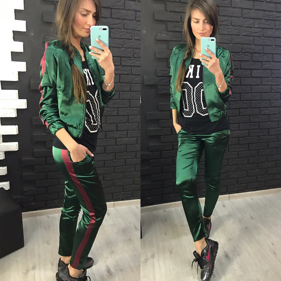 Green Sex 2020 New Design Fashion Hot Sale Suit Set Women Tracksuit Two-piece Style Outfit Sweatshirt Sport Wear