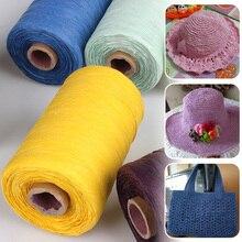 Bags Raffia-Yarn Yarn-Thread Cotton Craft Hand-Knitting Handmade Crochet for Hats Straw