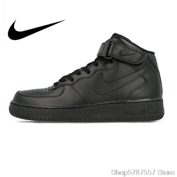 Nike Air Force 1 AF1 Original Official Breathable Mens Skateboarding Shoes Sports Sneakers Classique High Flat