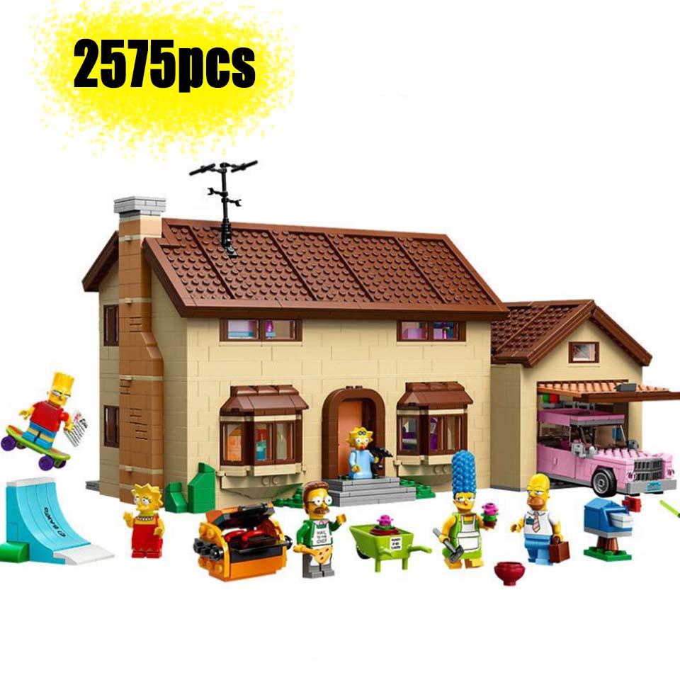 83005 (16005) os simpsons casa bloco de construção modelo tijolos para 2575 pçs brinquedo criança presente compatível legoinglys 71016 brithday presente