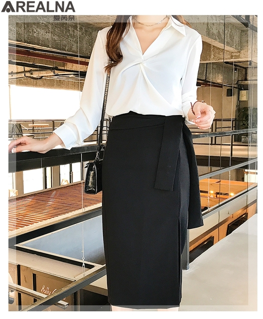 2020 autumn Women Blouse Korean office Long Sleeve Womens Tops And Blouses Vintage Folds Shirts Blusas Roupa Feminina Tops 6