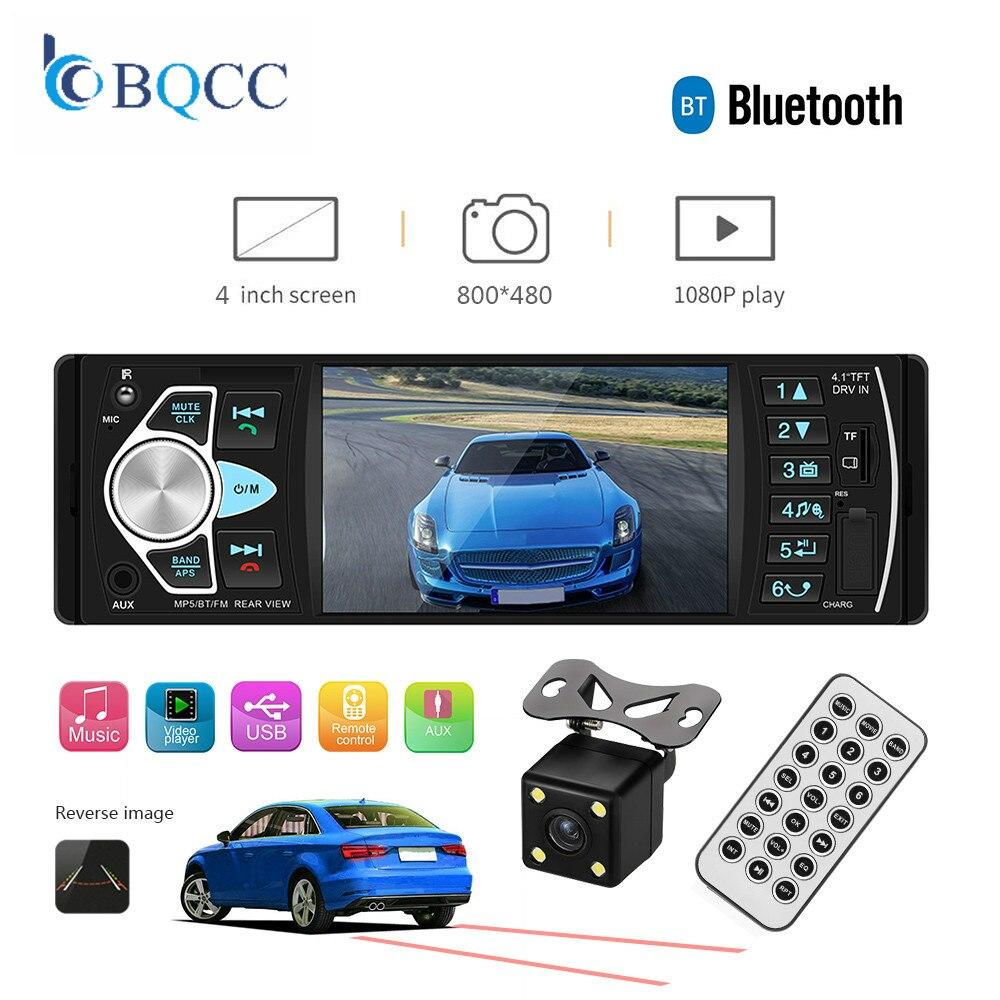 Car MP3 player FM Radio Bluetooth Handsfree Reverse Image Autoradio 1din Support Rear View Camera  Audio FM/AUX/USB