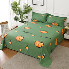 Bonenjoy 1 pc Flat Sheet 100 Cotton Double Queen King Size juego de sabanas Pumpkin Pattern