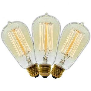 3 Pcs/Lot Handmade Edison Lamp