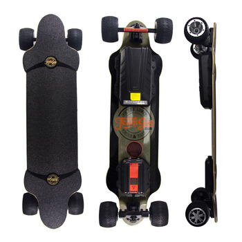 New  H20T  Electric Scooter Off Road  Double Drive  36V Four Wheel Electric Skateboard With Rubber Wheels