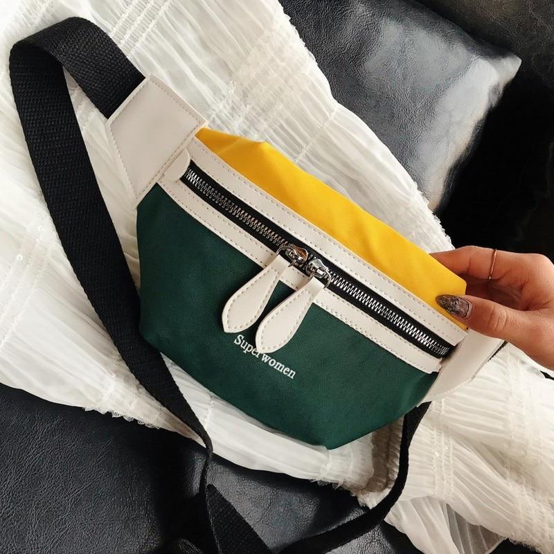 Fashion Patchwork Waist Bags Women Designer Fanny Pack Ladies  Belt Bag Waist Men Phone Pouch Banana Bum Chest Bag 2020 New
